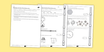 Year 3 Maths Assessment: Measurement Term 3 - maths, assessment