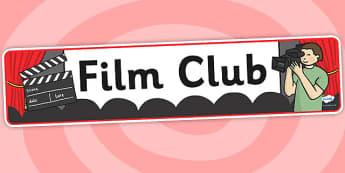 Film Club Banner - film club, display banner, banner for display, display, banner, header, header for display, header display, display header