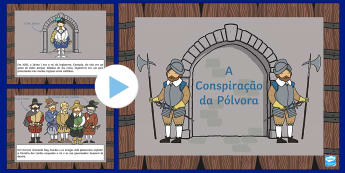 Conspiração da Pólvora PowerPoint informativo