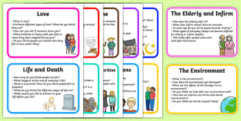 PSHCE Topic Discussion Prompt Cards - PSHCE, discussion cards, topic cards, discussion prompt, topic discussion, PSHCE cards, themed cards, cards
