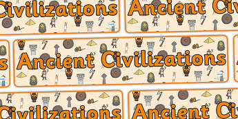 Ancient Civilizations Display Banner - ancient civilization, display banner, banner, display header, themed banner, themed header, header, banner display