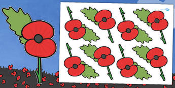 Remembrance Day Poppy Cut -uts - Remembrance Day, poppy, poppies, cut outs, thankful, sacrifice, veteran, cut out, cutting