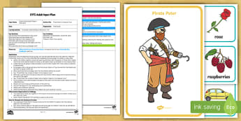 EYFS Pirate Peter's Treasure Trove Adult Input Plan and Resource Pack - EYFS Phase 1 Aspect 5: Alliteration, letters and sounds, phonics, initial sound, listen, match, init