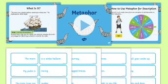 KS2 Metaphor Activity PowerPoint Pack - KS2, Key Stage Two, Key Stage 2, Words and Vocabulary, Metaphor, Figurative Language, PowerPoint, ac