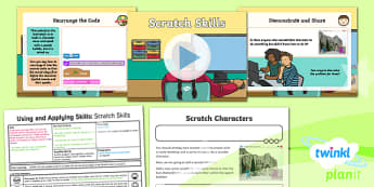 Computing: Using and Applying Skills: Scratch Skills Year 2 Lesson Pack 6