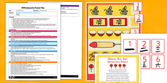 Chinese New Year EYFS Interactive Poster Plan and Resource Pack  - Chinese New Year, EYFS, Numbers, counting, maths