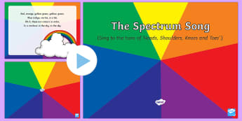 The Spectrum Song PowerPoint