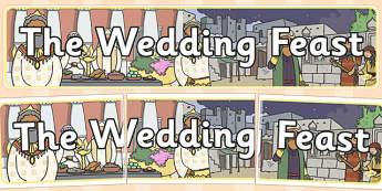 The Wedding Feast Display Banner - parables, wedding feast, feast