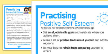 Practising Positive Self Esteem - practising, self-esteem, positive