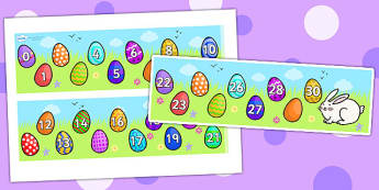 Missing Number Number Line 0-30 (Easter) - numbers, numerline, number line, missing number, easter missing numbers, easter counting activities, easter counting, missing numbers, counting, counting on, counting back, maths, numeracy