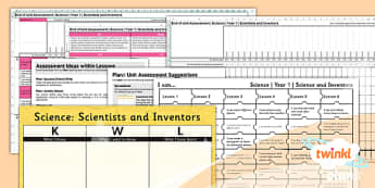 PlanIt - Science Year 1 - Scientists and Inventors Assessment Pack - planit, science, year 1, scientists and inventors, assessment, materials, ks1, key, stage, 1, one