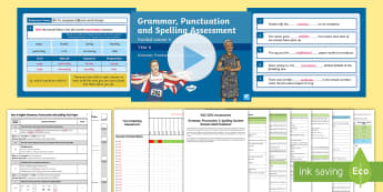 SATs Survival Year 6:  Grammar, Punctuation and Spelling Test 4 Bumper Assessment Resource Pack - Year 6 SPaG Guided Lesson PowerPoints and Packs, Year 6, SATs, Y6, revision, SPaG, GPs, grammar, pun