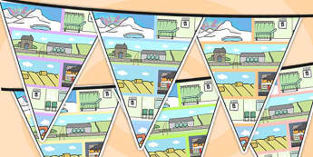 Small World Area Themed Bunting - small world, classroom areas