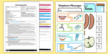 EYFS Everyday Activities Matching Game Adult Input Plan and Resource Pack - EYFS, Early Years planning, adult led, self care, EAL, daily routines, CL, Communication and Language