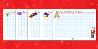 Christmas Toy Design Sheets - christmas toy, christmas, xmas, toys, design, sheet, sheets, worksheet, creative creativity, designing, santa, toys, presents