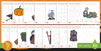 Halloween Pencil Control Activity Sheets - US English/Spanish (Latin) - Halloween, pencil control, activity sheet, motor skill, spanish, esl, eal, español