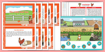The Little Red Hen Discovery Sack - EYFS, Early Years, KS1, traditional stories, farm, wheat, bread, chicken, harvest