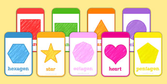 2D Shape Flashcards - 2d shape, 2d, shape, flashcards, flash cards, activities