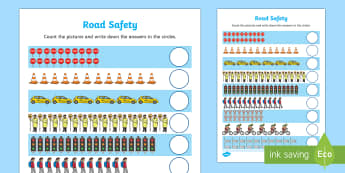 Road Safety Counting up to 20 Activity