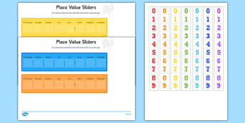 Place Value Maths Sliders Including Tenths, Hundredths and Thousandths - place value, maths, sliders, tenths, hundredths, thousandths