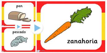 Presentación La comida - comida, vocabulario