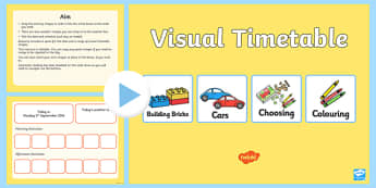 Interactive Visual Timetable Nursery PowerPoint - interactive, visual, timetable, nursery, powerpoint