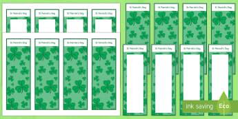 St Patrick's Day Bookmarks - st patrick's day, ireland, eire, roi, bookmarks, st patrick day,