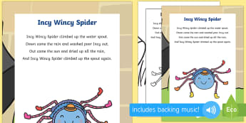 Incy Wincy Spider Lyrics - incy wincy spider lyrics, poster