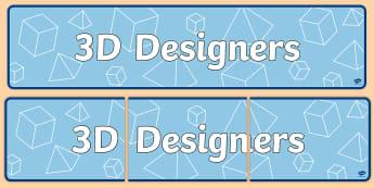 3D Designers Topic Display Banner - ipc, banner, 3d, display