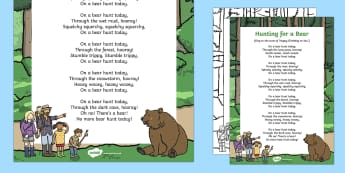 Hunting for a Bear Song to Support Teaching on Bear Hunt