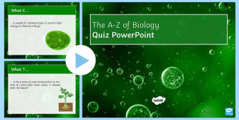 A-Z of Cell Biology Quiz PowerPoint - Biology Week, Cells, Quiz, PowerPoint, Organelle, Diffusion, Osmosis, Nucleus, Mitochondria