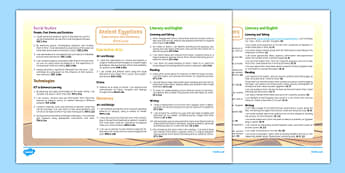 Ancient Egyptians Interdisciplinary Topic Web CfE First Level - CfE, Social Studies, History, Interdisciplinary Topic, Cross Curricular