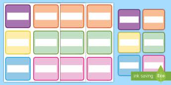 Droriau Arwyddion a Labeli - labeli, droriau, drawers, labelis, multicoloured, amryliw, golygu, editable,Welsh