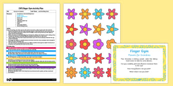 EYFS Flowers for Grandma Finger Gym Plan and Resource Pack