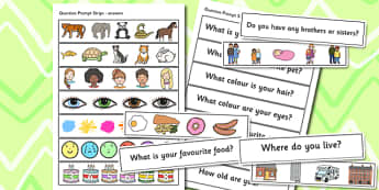 EAL Question Prompt Strips - EAL, question prompt, question aid