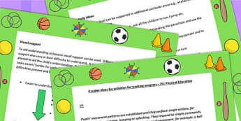 P Scales Ideas for Activities for Tracking Progress P4 PE - PE