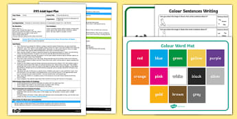EYFS Colourful Sentences Adult Input Plan and Resource Pack