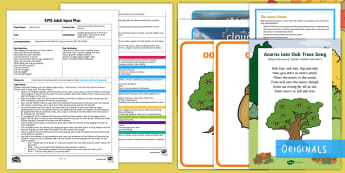 Little Acorns Story Movement Activity Adult Input Plan and Resource Pack - Twinkl Originals, Twinkl Fiction, story, reading, Physical development, pD, Early Years Planning, EY