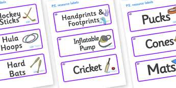 Octopus Themed Editable PE Resource Labels - Themed PE label, PE equipment, PE, physical education, PE cupboard, PE, physical development, quoits, cones, bats, balls, Resource Label, Editable Labels, KS1 Labels, Foundation Labels, Foundation Stage La