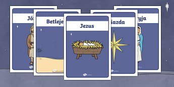 Plakaty Biblijna Historia Narodzenia Jezusa - biblijna, biblia, Maryja, Jezus, Józef, pasterze, zwierzęta, żłóbek, mędry, królowei, stycze