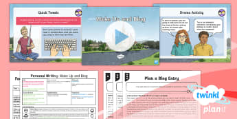Explorers: Dreams and Anders Arnfield: Personal Writing 2 Y6 Lesson Pack -  social media, tweet, blog, plan, dreams, writing, discussion texts, argument text, debate language