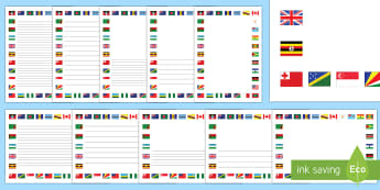 Flags of the Commonwealth Page Border Pack - commonwealth flags, commonwealth day, australia, new zealand, the queen, australia, new zealand, can