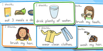 How to Look After Myself Visual Aid Cards - australia, visual aid