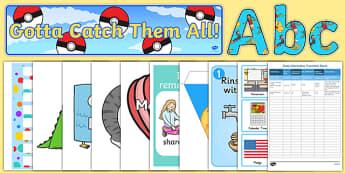 Top 10 USA Classroom Set Up Resource Pack