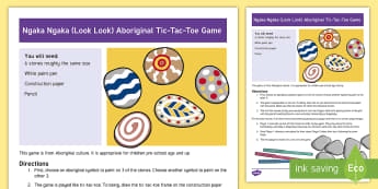 Ngaka Ngaka (Look Look) Aboriginal Tic-Tac-Toe Game - Aborigine, First Nations, Native Cultures, Tic-Tac-Toe, Look Look, Indigenous Peoples Day
