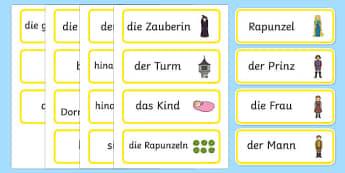 Rapunzel Word Cards