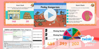 PlanIt Y3 Addition and Subtraction Lesson Pack Add and Subtract Numbers Mentally (3) - Addition and Subtraction, Add, more, plus, and, altogether, total, equal to, equals, count on, subtr
