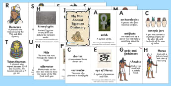 Ancient Egyptians Dictionary Booklet - egypt, ancient egyptians, ancient egyptian dictionary, ancient egyptian words, egypt key words, ks2 history, ks2