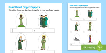 St. David's Day Story Finger Puppets - St David's Day, Role Play, role play, st david, st, st David, Saint David, Saint David's Day, orac