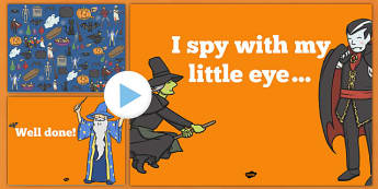 Halloween I Spy Activity Sheet and PowerPoint Pack - halloween, hallowe'en, I spy, activity, worksheet